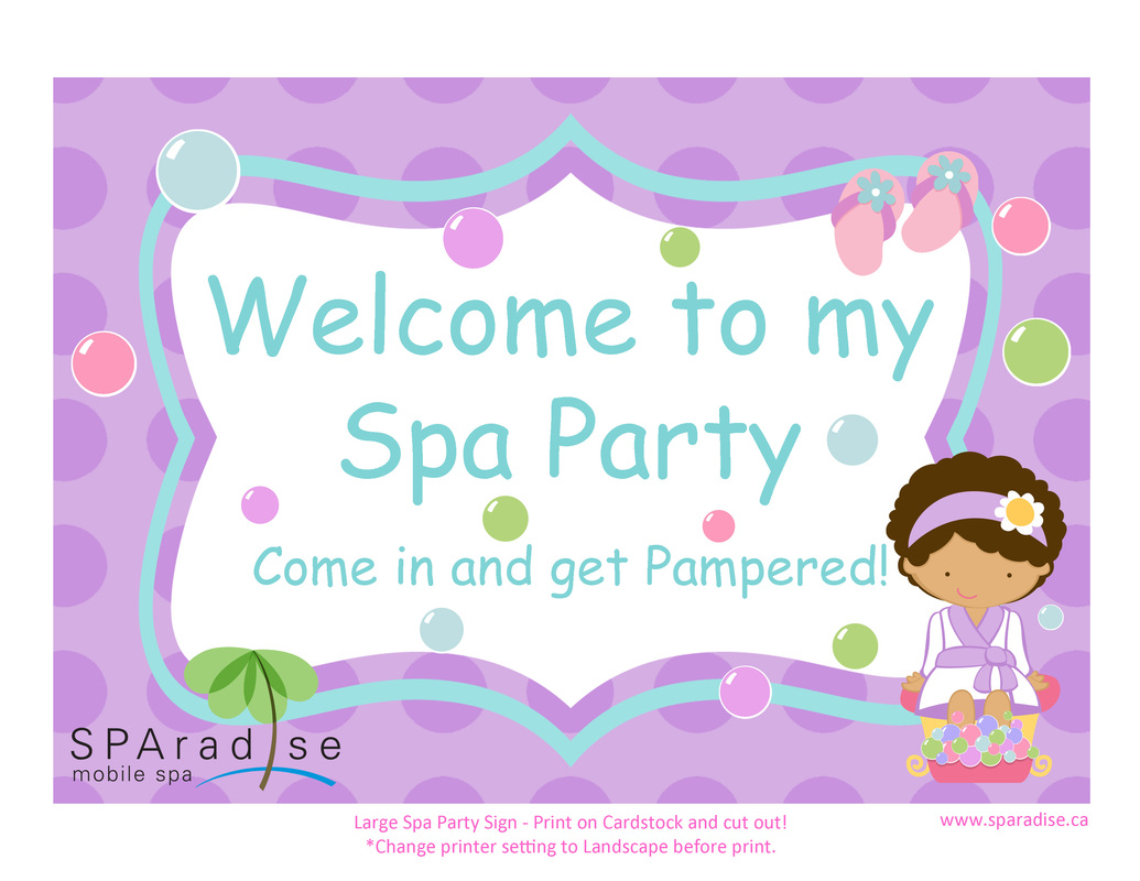 Free Printables - SPAradise Mobile Spa Inc. | Vancouver Premier ...