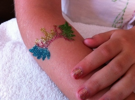 Glitter Tattoo - SPAradise Mobile Spa Inc. | Vancouver Premier Mobile Spa